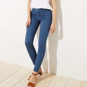 Loft's Skinny Sateen Pintucked Skinny Pants